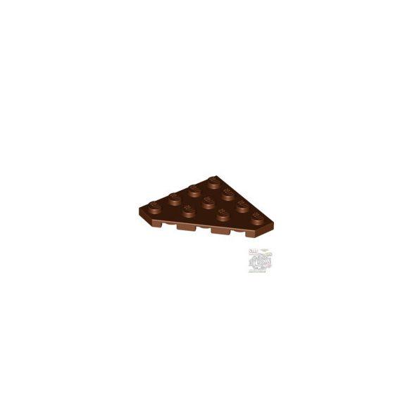 Lego Corner Plate 45 Deg. 4X4, Reddish brown