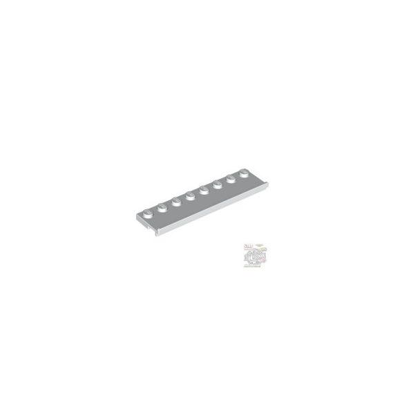 Lego PLATE 2X8 W/GLIDING, White