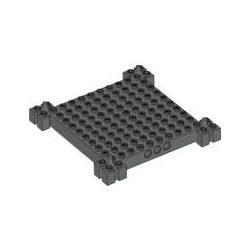 Lego BRICK 12X12X1 WITH SLIDERS, Black