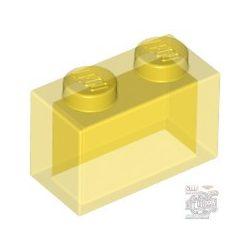 Lego Brick 1X2, Transparent yellow