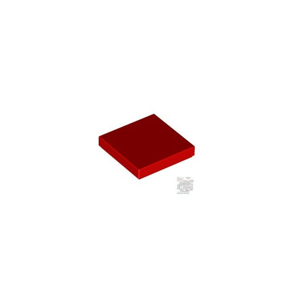 Lego Flat Tile 2X2, Bright red