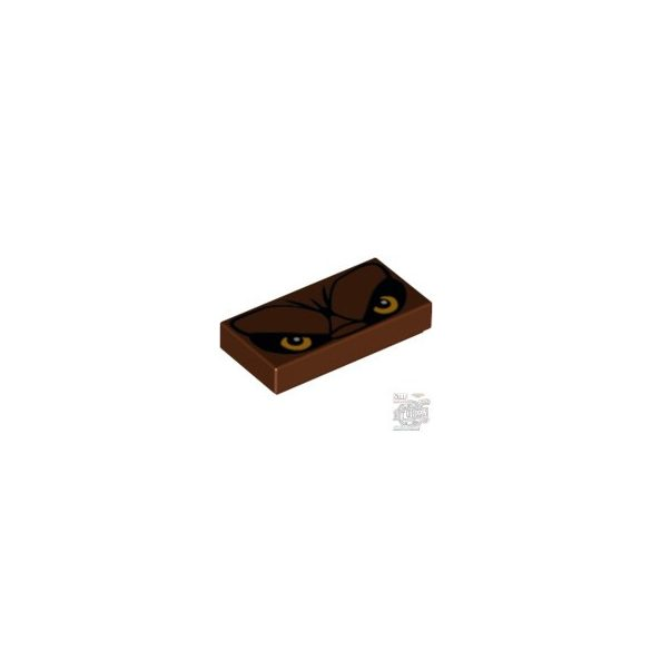 Lego FLAT TILE 1X2 'NO. 134', Reddish brown