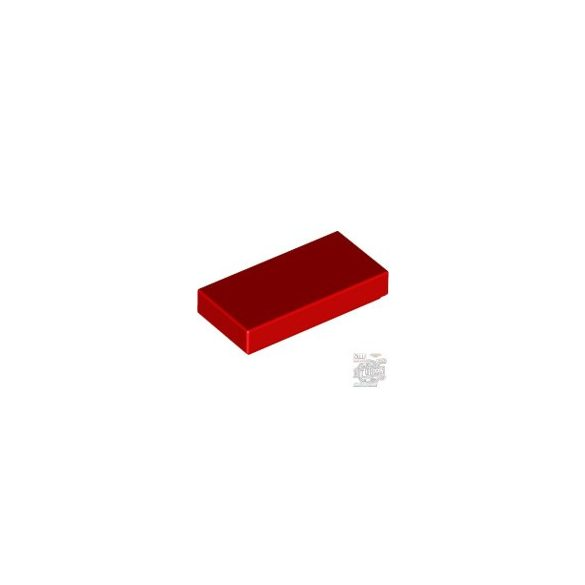 Lego Flat Tile 1X2, Bright red