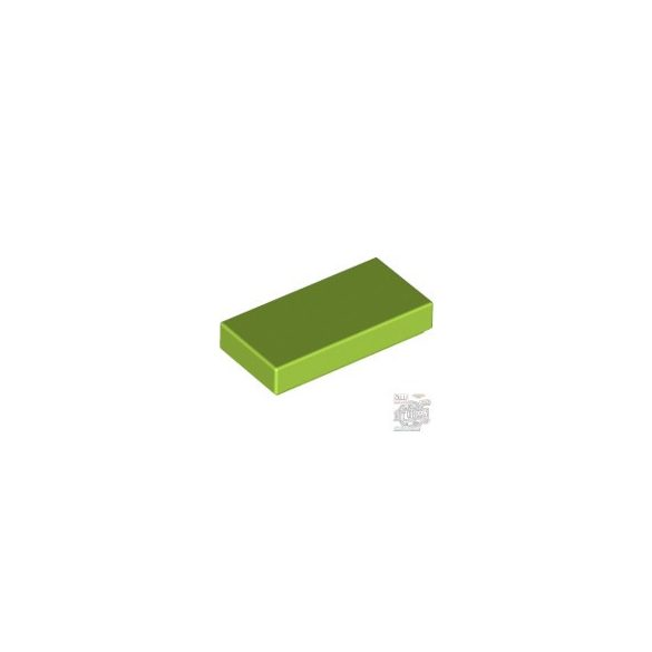 Lego Flat Tile 1X2, Bright yellowish green