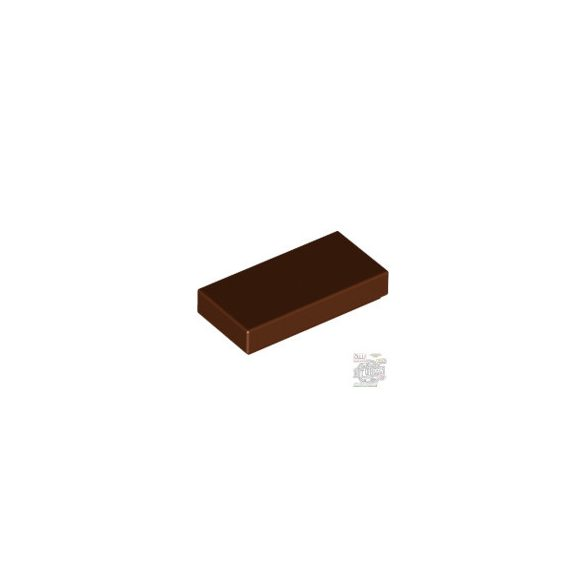 Lego Flat Tile 1X2, Reddish brown