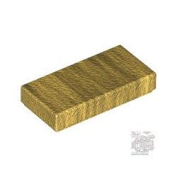 Lego Flat Tile 1X2, Metallic gold