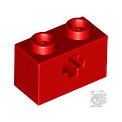 Lego BRICK 1X2 WITH CROSS HOLE, Bright red