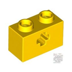 Lego BRICK 1X2 WITH CROSS HOLE, Bright yellow