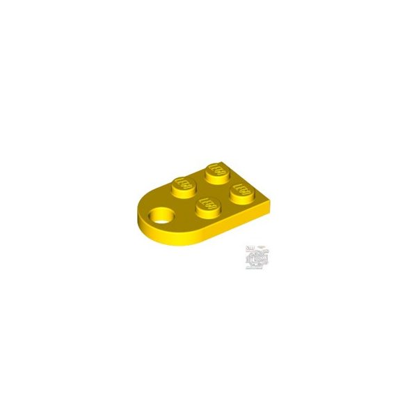 Lego COUPLING PLATE 2X2, Bright yellow