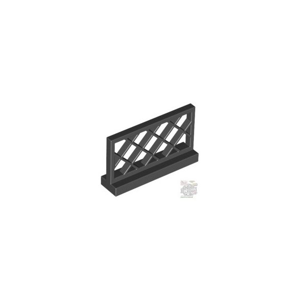Lego FENCE 1X4X2, Black