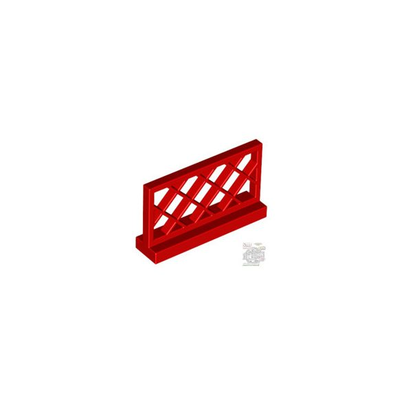 Lego FENCE 1X4X2, Bright red