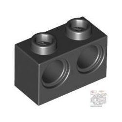 Lego Brick 1X2 M. 2 Holes Ø 4,87, Black