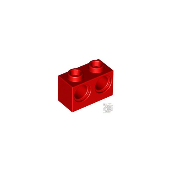 Lego BRICK 1X2 M. 2 HOLES Ø 4,87, Bright red