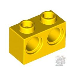 Lego BRICK 1X2 M. 2 HOLES Ø 4,87, Bright yellow