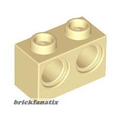 Lego BRICK 1X2 M. 2 HOLES Ø 4,87, Tan