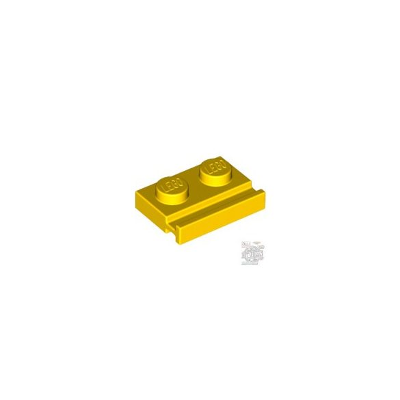 Lego PLATE 1X2 WITH SLIDE, Bright yellow