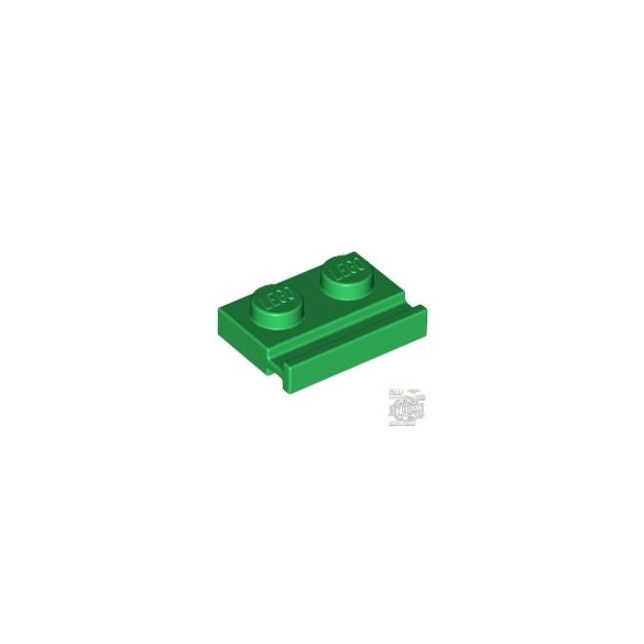 Lego PLATE 1X2 WITH SLIDE, Green