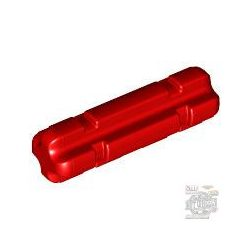 Lego 2M CROSS AXLE W. GROOVE, Bright red