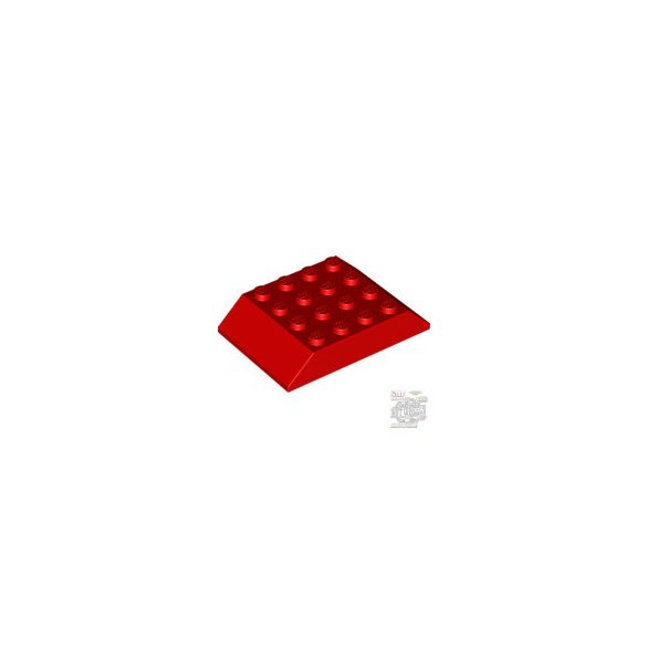 Lego ROOF TILE 4X6 45 DEGREES, Bright red