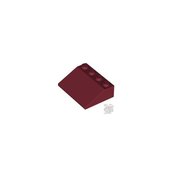 Lego ROOF TILE 3X4/25°, Dark red