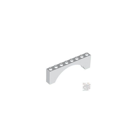 Lego Brick W. Bow 1X8X2, White