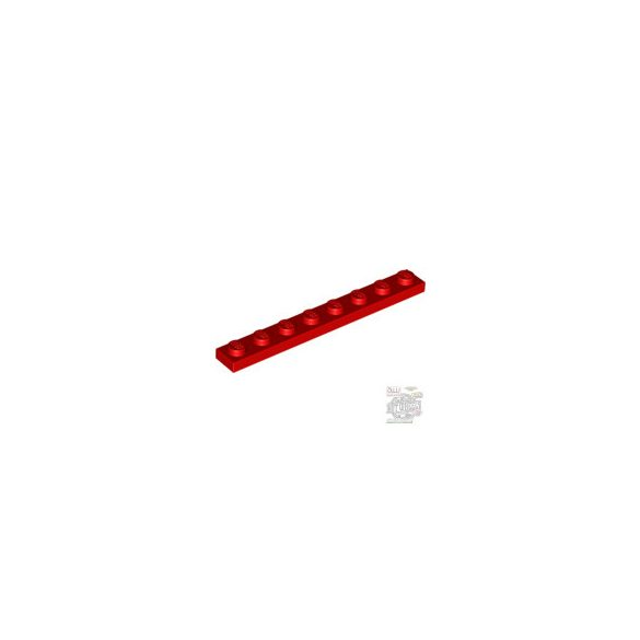 Lego PLATE 1X8, Bright red