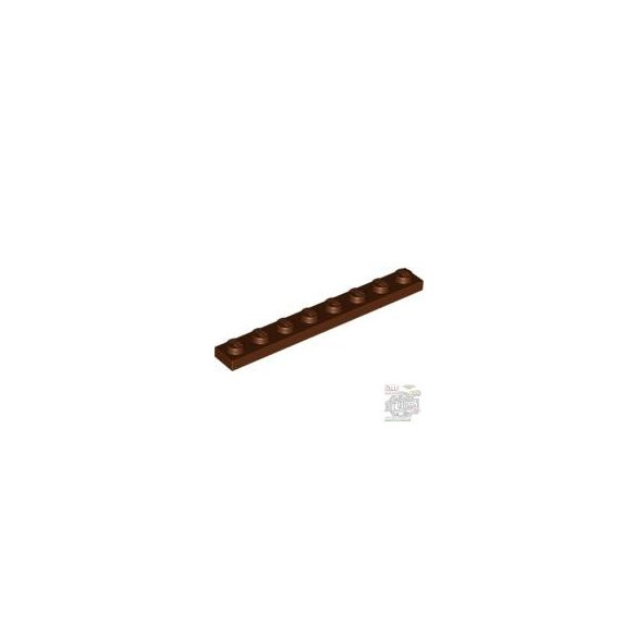 Lego Plate 1x8, Reddish brown