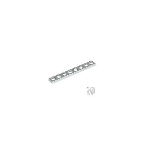 Lego Plate 1x8, White