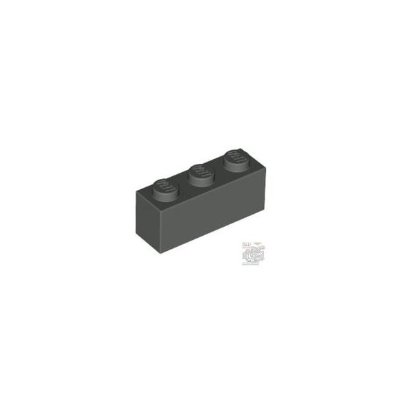 Lego Brick 1X3, Dark grey