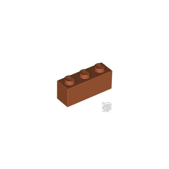 Lego Brick 1X3, Dark orange
