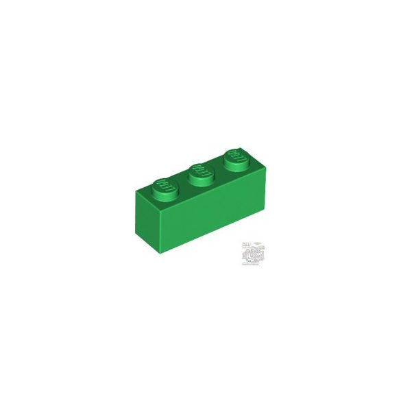 Lego BRICK 1X3, Green