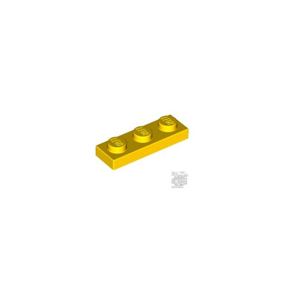 Lego Plate 1x3, Bright yellow