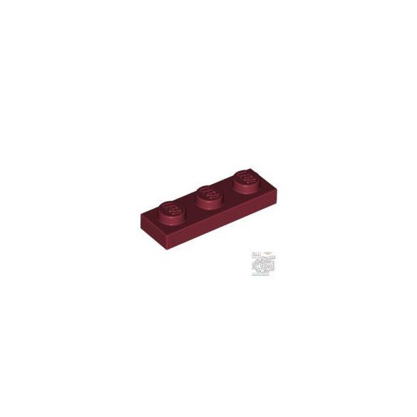 Lego PLATE 1X3, Dark red