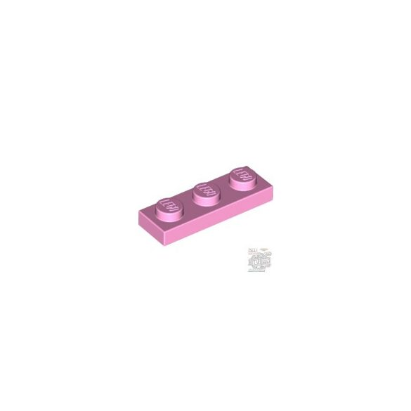 Lego PLATE 1X3, Rose
