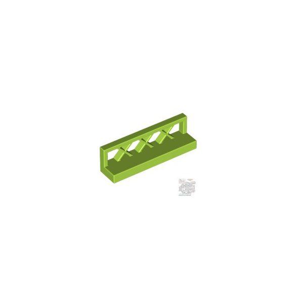 Lego FENCE 1X4X1, Bright yellowish green