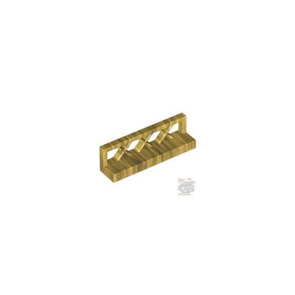 Lego FENCE 1X4X1, Gold