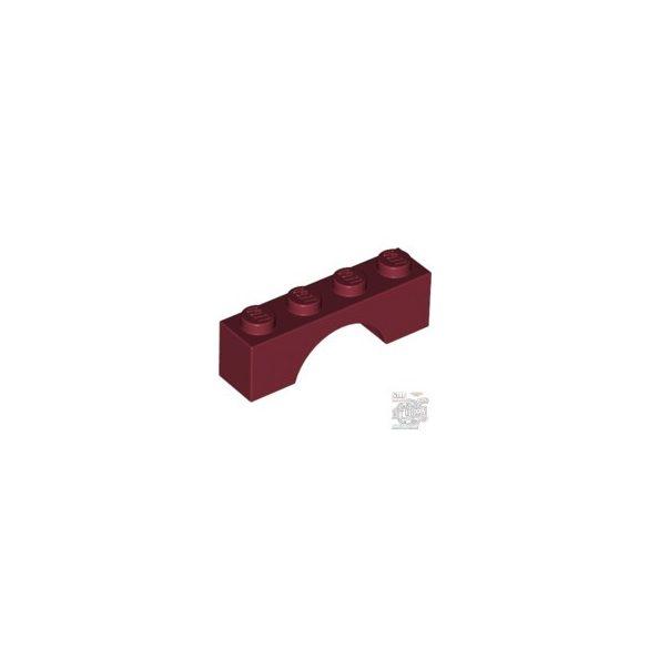 Lego BRICK W. BOW 1X4, Dark red