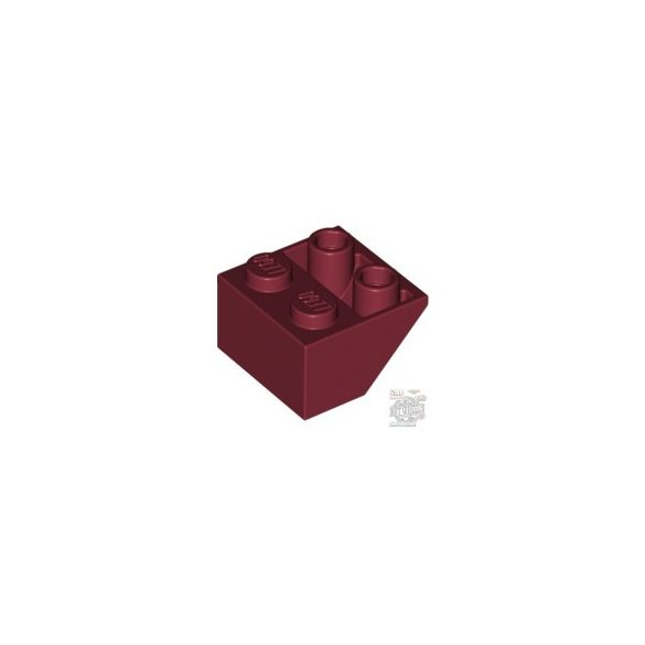 Lego ROOF TILE 2X2/45 INV., Dark red