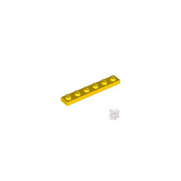 Lego Plate 1x6, Bright yellow