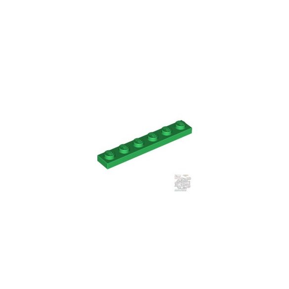 Lego PLATE 1X6, Green