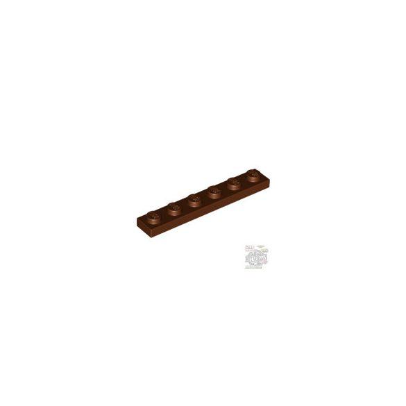Lego Plate 1x6, Reddish brown