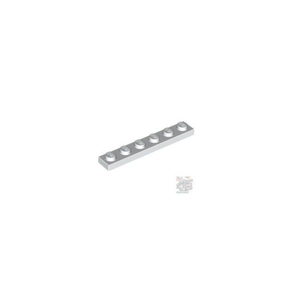 Lego Plate 1x6, White
