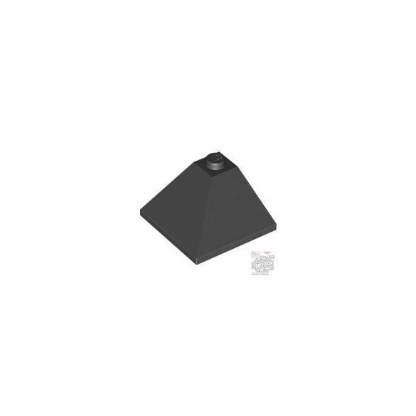 Lego CORNER OUTSIDE 3X3/25°, Black