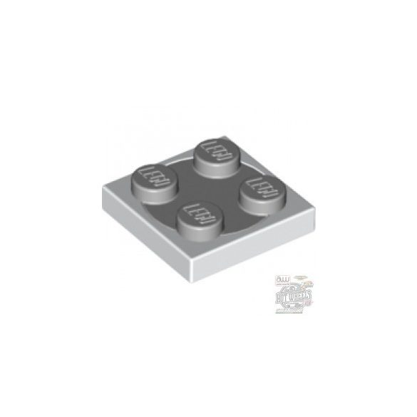 Lego Turn Plate 2X2 complete, White + Light grey