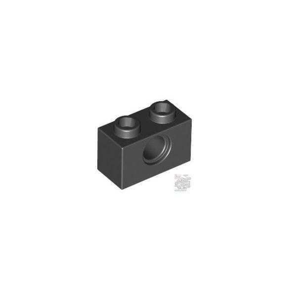 Lego Technic Brick 1X2, Ø4.9, Black