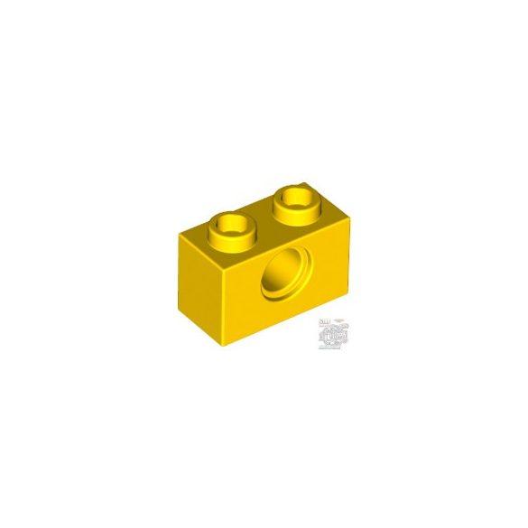 Lego TECHNIC BRICK 1X2, Ø4.9, Bright yellow