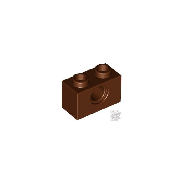 Lego TECHNIC BRICK 1X2, Ø4.9, Reddish brown