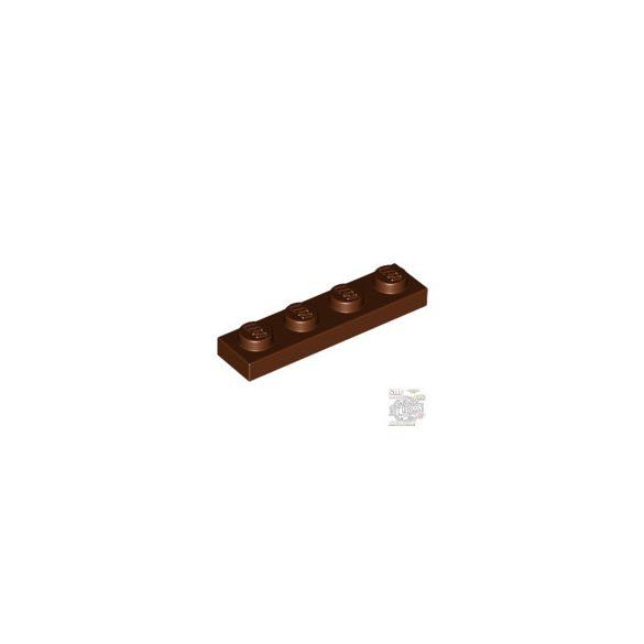 Lego Plate 1x4, Reddish brown