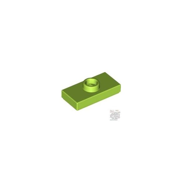 Lego PLATE 1X2 W. 1 KNOB, Bright yellowish green