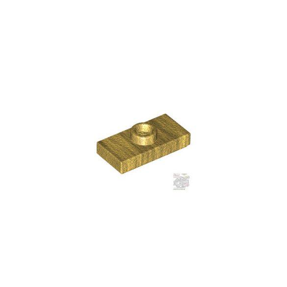 Lego PLATE 1X2 W. 1 KNOB, Dark gold